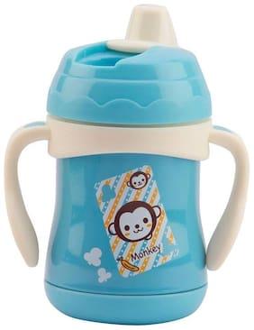 Baby Corn Multi Functional Baby Stainless Steel Feeding Bottle 300ml Blue