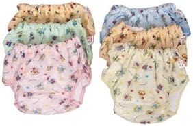 Baby Corn New Born Baby Super Soft Plastic & Towel Cotton Pvc Panty (0-6 Months)(Pack of 6)