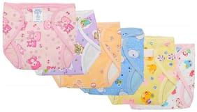 Baby Corn New Born Baby Comfort Plastic Towel Diaper Nappies - Langot - (0-3 Months)(Pack of 6)