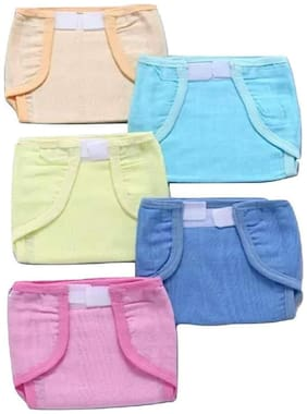 Baby Corn Padded Muslin Double Cotton Thick Cloth Nappy (Pack of 5)