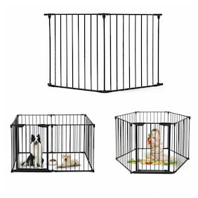Baby Safety Fence Fireplace Fence Hearth Gate BBQ Metal Fire Gate Pet