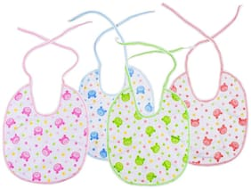 Baby Shopiieee New born baby premium quality bibs (Set of 4 Colors) - Made in Thailand - Random Print & Color