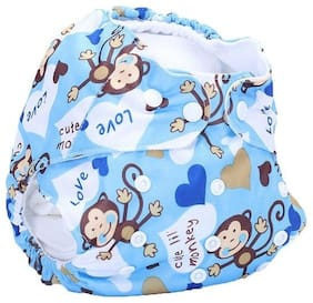 Baby Shopiieee Cloth Diapers Reusable Microfibre Cotton Insert Pad - All In One Cloth Diaper (Printed & Multicolor) (3-24 Months) -KLP-67