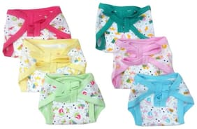 Baby Shopiieee Reusable Cotton Cloth Diaper/Langot/Nappy for new born baby 6-9 Months Pack of 6) Print & color May vary