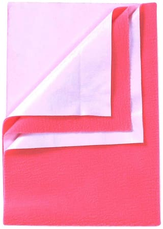 Babyrose - Baby Dry Sheet : Reusable Hygienic Waterproof (Salmon Rose- Small-50x70 cm)
