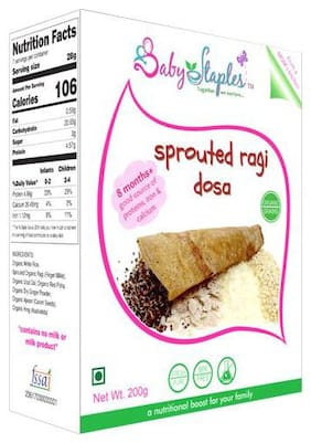 BabyStaples Organic - Sprouted Ragi Dosa 200 gm