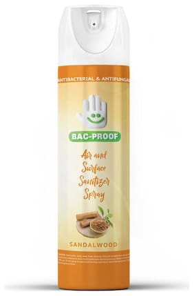 Bac-Proof Air And Surface Spray Sanitizer With Sandalwood Fragrance (250 ml)