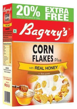 Bagrry'S Corn Flakes Plus - With Real Honey 300 gm