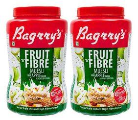 Bagrry's Fruit N Fibre Apple Muesli 1 kg Jar- Pack of 2