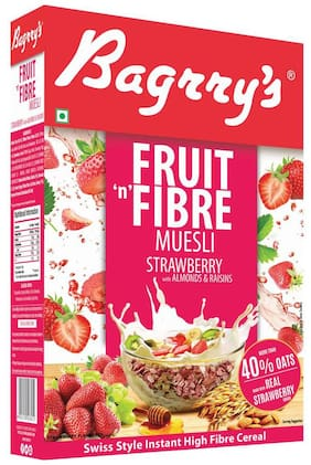 Bagrry's Fruit 'N' Fibre Strawberry Muesli- 500 g Box