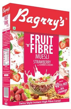 Bagrry's Fruit 'N' Fibre Strawberry Muesli- 500 gm Box
