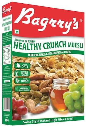 Bagrry's Healthy Crunch - Almond & Raisins Muesli- 500 gm Box