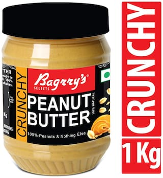 Bagrry's Natural Peanut Butter;Crunchy;1 KG;Unsweetened
