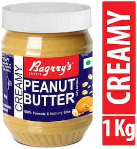 Bagrry's Natural Peanut Butter;Creamy;1 kg;Unsweetened