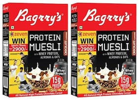 Bagrry's Protein Muesli 500 gm Box- Pack of 2
