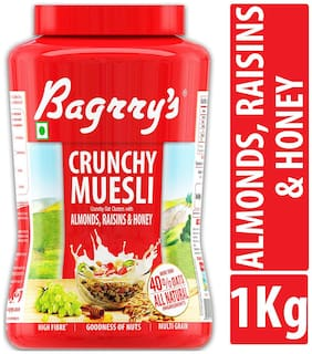 Bagrrys Crunchy Muesli - Almond Raisins And Honey 1 kg