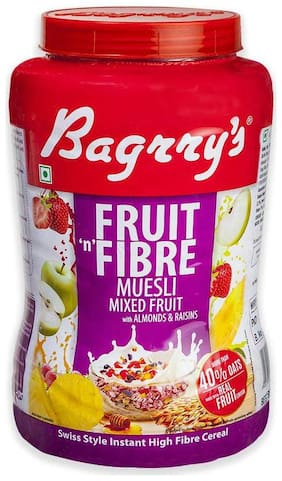 Bagrrys Fruit N Fibre Muesli - Mixed Fruit 1 kg