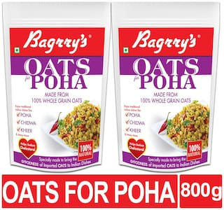 Bagrrys Oats for Poha Pouch 400gm (pack of 2 )