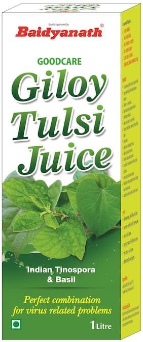 Baidyanath Giloy Tulsi Juice - 1 L Immunity/Immunity Booster