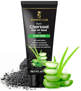 Barber'S Club Black Charcoal Peel Off Mask With Aloevera 60g