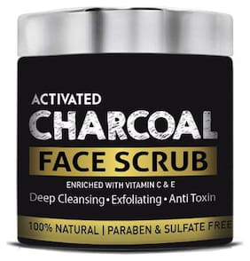 Barber's Club Activated Charcoal Face Scrub - 100% Natural  Paraben & Sulphate Free 130 gm