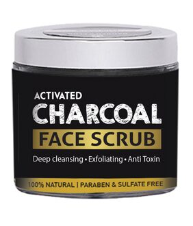 Barbers Club Activated Charcoal Face Scrub (100% Natural & Organic - Parabens and Sulphates FREE)- 13 g