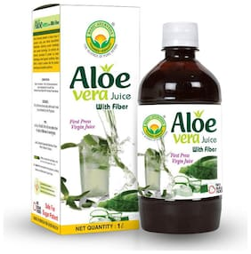 Basic Ayurveda Aloe Vera Juice (Sugar Free Fiber) 1 L