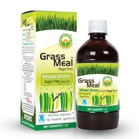 Basic Ayurveda Grass Meal (Wheat Grass) Juice Sugar Free 1 L
