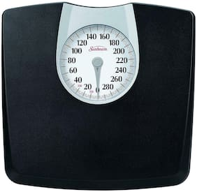 Bathroom Weight Scale Dial Mechanical Body Home Fitness Health Fat 330 Lbs Black