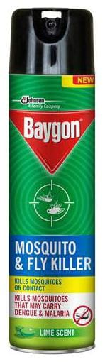 Baygon Fly & Mosquito Killer Spray - Lime Scent 400 ml