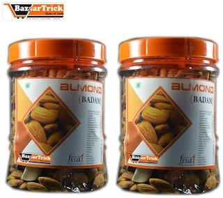 Bazaartrick premium quality Almonds (Badaam) 1000 g.m (pack of 500* 2)