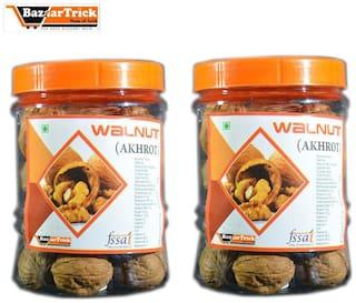 Bazaartrick premium quality Walnuts(akhrot) 1000 g.m (pack of500* 2)