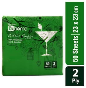 BB Home Cocktail Napkin - 2 Ply 50 Sheets