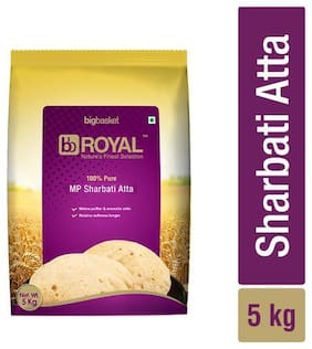BB Royal MP Sharbati Wheat Atta - 100% Pure 5 kg