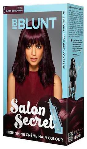 Bblunt Salon Secret High Shine Creme Hair Color - Wine Deep Burgundy 4.20 (100 gm)