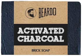 Beardo Activated Charcoal Brick Soap - 125 g