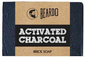 Beardo Activated Charcoal Brick Soap - 125 gm