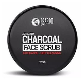 Beardo Activated Charcoal Deep Cleansing Face Scrub 100G