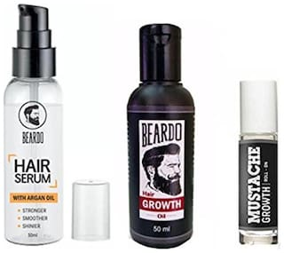 Beardo Beard And Hair Growth Oil 50 ml Beardo Mustache Growth Roll On Beardo Hair Serum With Argan Oil - 50 ml Combo.