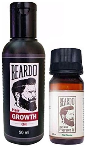 Beardo Beard And Hair Growth Oil (50 ml) And Beardo Beard & Hair Fragrance Oil The Classic (30 ml) Combo.