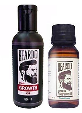Beardo Beard And Hair Growth Oil (50 ml) And Beardo Beard & Hair Fragrance Oil The Irish Royale (50 ml) Combo.