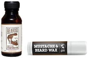 Beardo Beard & Hair Fragrance Oil The Old Fashioned 10 ml And Beardo Mustache & Beard Wax Stick 4 gm Combo.
