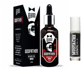 Beardo Godfather Lite Beard & Mustache Oil - 30 ml & Beardo Mustache Growth Roll On Combo