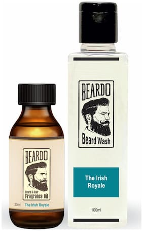 Beardo The Irish Royale Combo - Beard And Hair Fragrance Oil (30 ml) And Beard Wash (100 ml)