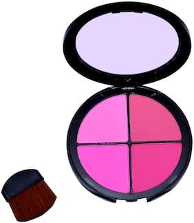 Beautica 4 in 1 Color Fashion Blusher Compact Case(Multi Color)