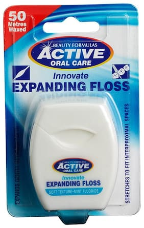 Beauty Formulas Active Oral care Innovative Expanding Floss Soft Mint Flouride 50 m