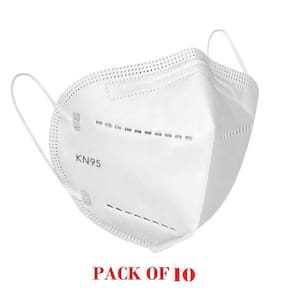 BectoSolve KN95 5-Layered Reusable Anti-Virus Breathable Face Mask (Free Size, With Nose Clip) With Filtration Rate   95% (Pack Of 10)