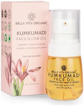 Bella Vita Organic Kumkumadi Face Glowing Oil For Skin Brightening, Repair and Dryness - 35 ml