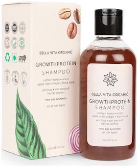 Bella Vita Organic Growth Protein Shampoo For Hair Volume, Fall, Dandruff, Frizz Control, Shine & Strength-225ml