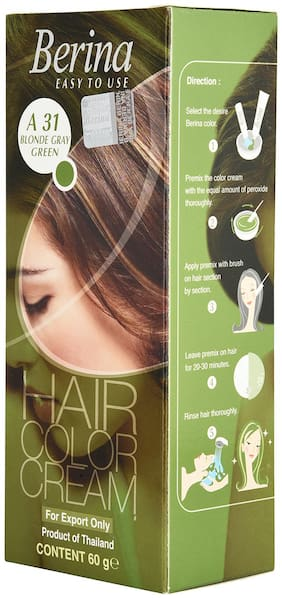 Berina A31 Blonde Gray Green Hair Color Cream 60 g (Pack Of 1)